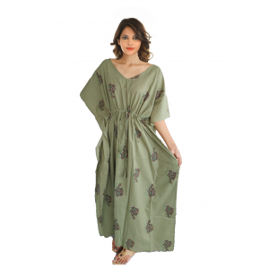 KC300013 - Beautiful Cotton Night Dress Kafthan