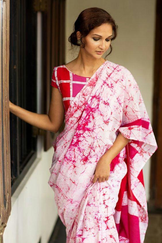 Batik Print Cotton Sarees