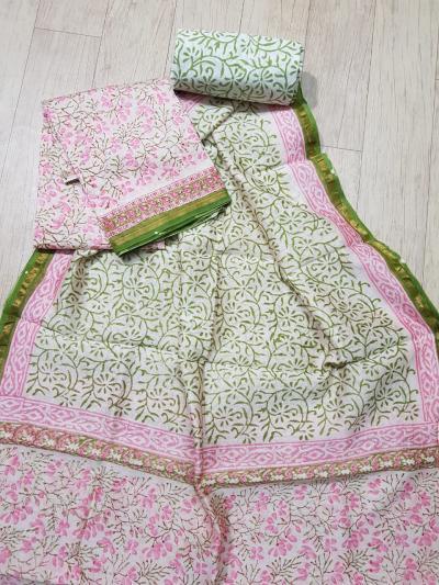 Chanderi Suits | Chanderi Cotton Sarees | Cotton Churidar | In Jaipur